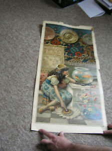 ANTIQUE ORIGINAL 1890,S PEARS SOAP PRINT