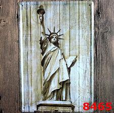 statue of liberty Vintage Tin Sign Bar pub Wall Decor Retro Metal Art Poster