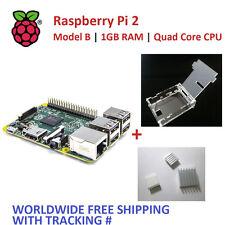 RASPBERRY PI 2 V1.2 Model B 1GB RAM Quad Core CPU +Transparent Box Case+Heatsink
