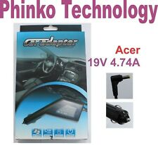 Brand New Car Charger for ACER Laptops, 19V 4.74A, 90W