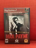 Max Payne (Sony Playstation 2, 2001) PS2 Game Complete Excellent! Tested