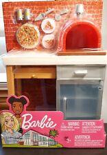 Barbie Outdoor Furniture Set BRICK PIZZA OVEN + Accessories Pack Mattel 2020 New