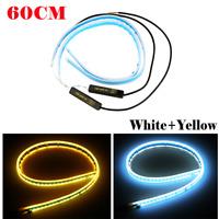 Ultra Thin 60cm Car Soft Tube LED Strip Daytime Running Light Turn Signal Lamp@