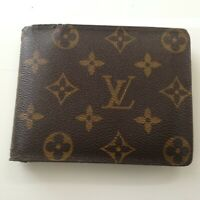 Authentic Louis Vuitton Brown Mono Mens  Multiple Wallet 5in x 4in (SP1009)
