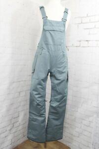 686 Black Magic Bib Snow Pants, Women's Small, Goblin Blue Textured Stripe New