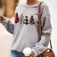 Women Crewneck Sweatshirt Ladies Winter Warm Hoodies Tops Jumper Pullover Blouse