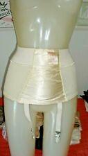 """New listing Rare Vtg """"Tummy X-Belt"""" By Capri Satin Panel Open Bottom Garter Girdle Sz S"""