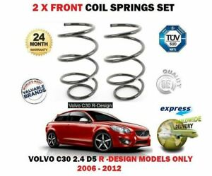 FOR VOLVO C30 2.4 D5 R DESIGN MODELS 2006-2012 NEW 2 X FRONT COIL SPRINGS SET