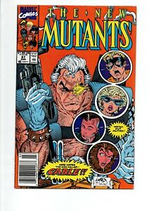 NEW MUTANTS #87 Marvel comic book..1st Print & 1st CABLE...1990...ONLY $19.95!