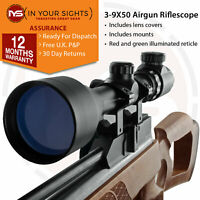 3-9x50 Rifle scope with Illuminated Reticle + Free Mounts / Shockproof sight