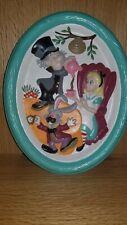 Plaster Disney Vintage hand painted wall plaque Alice in wonderland mad hatter