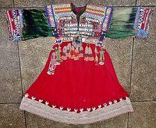 Afghan Kuchi Coins Baloch Tribal Ethnic Tassels Dress Vintage Cultural Couture