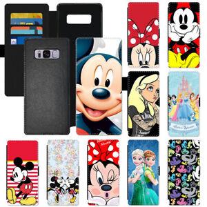 Hot Disney Cartoon Flip PU Leather Wallet Phone Case Cover For Apple Samsung LG