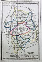 Cher en 1794 Dun Sancoins Lignieres Sancerre Mehun Aubigny Charost Bourges Sury