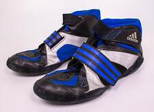 G03735 Adidas Extero II Wrestling Shoes Mens 11.5 Black Silver Blue
