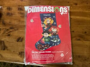 New Dimensions christmas carolers needlepoint stocking kit #8442