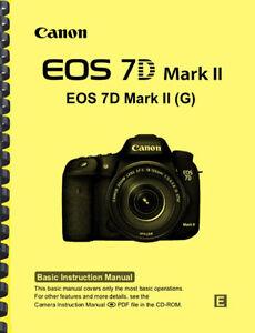 Canon EOS 7D Mark II Owner's BASIC INSTRUCTION MANUAL