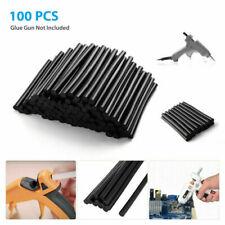 X AUTOHAUX 50 Pcs 7mm X 150mm Hot Glue Sticks Auto Body Paintless Dent Removal Repair Black for Car