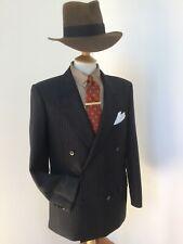 Men's Vintage Jaeger Double Breasted Pin Stripe Suit. Pure Wool. 40 Regular.