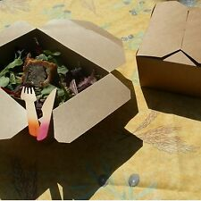 Brown Card Picnic Food Takeaway Boxes - Pack of 10