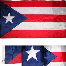 2x3 Embroidered Sewn Puerto Rico 300D Nylon Flag 2'x3'