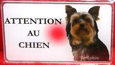 Yorkshire Plaque ATTENTION AU CHIEN Panneau Avertissement Pancarte P8