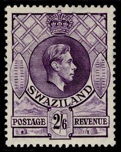 SWAZILAND GVI SG36a, 2s 6d violet, LH MINT. Cat £32.