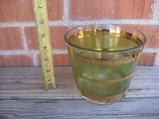 "Vintage 5"" Height *** CULVER *** Culver 22K Gold Overlay Glass Ice Bucket USA"