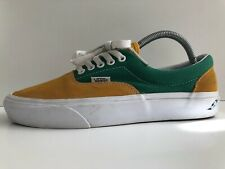 VANS AUTHENTIC SUEDE BRAZIL TRAINERS GREEN & YELLOW MUSTARD SIZE 7 UK