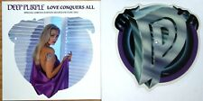 MINT! DEEP PURPLE LOVE CONQUERS ALL Shaped VINYL Picture Pic Disc