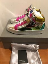 Giuseppe Zanotti Multicolored Metallic Mid-Top Leather Sneaker UK 6, 7 £815