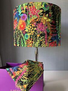 30cm Lampshade In Liberty Of London Tresco 'Neon' Tana Lawn Cotton Fabric
