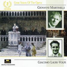 Great voices of the Opera: Martinelli-Lauri-volpi/2 CD-set-ETAT NEUF