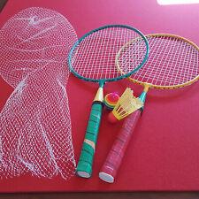 Kinder Badmintonset Federballset inkl. 2 Schläger 1 Federball 1 Ball Outdoor,
