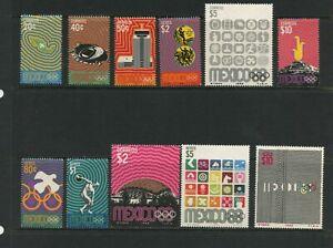 G372 Mexico 1968 Olympics 11v. MNH