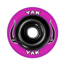 100mm x 88a YAK SCAT Metalcore Scooter Wheel, pair, purple/black with bearings