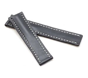 BOB Marino Saddle Calf Deployment Strap for Breitling, 20-24 mm, 4 colors, new!