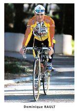 CYCLISME carte cycliste DOMINIQUE RAULT équipe BIG MAT AUBER 93