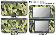 Green Camouflage Classic Skin Sticker Decal Cover for NEW Nintendo 3DS XL (2015)