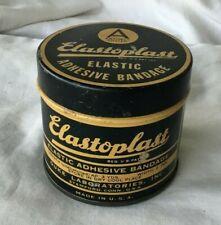 *Vintage ELASTOPLAST BANDAGE BAND AID Tin Can DUKE LABORATORIES Stamford CT