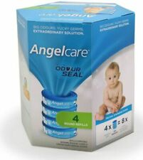 Angelcare Baby Nappy Disposal System Refill Cassettes AC9004 4 Pack 4 Months