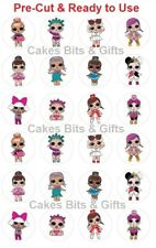 24x L.O.L SURPRISE DOLLS Edible Wafer Cupcake Toppers Pre Cut Ready to Use LOL
