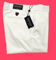 Ralph Lauren Polo Golf Trouser White Cotton Twill Stretch Classic Fit Genuine