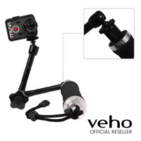 VEHO 3 WAY MONOPOD WITH EXTENDED ARM FOR MUVI K-SERIES CAMERA - VCC-A046-3HG