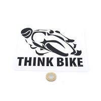 Think Bike Car Motorcycle Sticker Vinyl Decal 150mm Choice of Colours