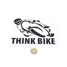 Think Bike Car Motorcycle Sticker Vinyl Decal 150mm Choice of Colours W