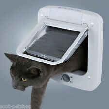 Trixie Pet Products 4-way Cat Door With Rotary Lock White