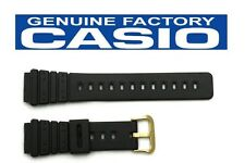 CASIO AQ-100 Original 20mm Black Rubber Watch BAND Strap MRD-201 AQ-100WG
