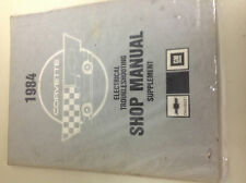 1984 Chevrolet CHEVY CORVETTE Electrical Troubleshooting Wiring Diagram Manual