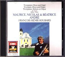 Maurice Nicola Beatrice ANDRE Trumpets Oboe Organ HOUBARD CD Bach Purcell  Lully